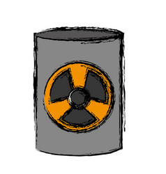 nuclear sign icon vector image