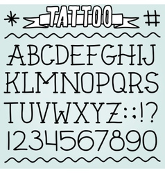 Old school tattoo font vector