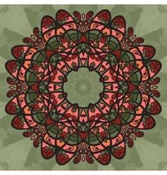 Ornamental doodle symmetrical print wallpaper vector