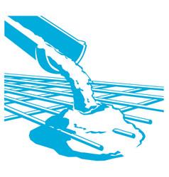Pouring concrete icon vector