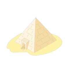 Pyramid of giza egypt icon cartoon style vector