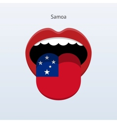 Samoa language Abstract human tongue vector image vector image
