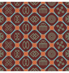 Seamless background with adinkra symbols vector