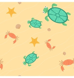 Seamless of beach vector image