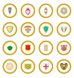 Shield icon circle vector