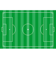Soccer field from above vector image vector image