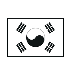 Standard proportions for south korea flag vector
