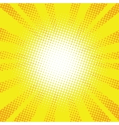 Yellow rays pop art retro comic background vector