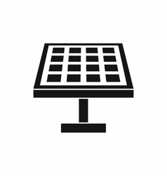 Solar energy panel icon simple style vector