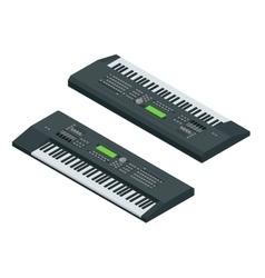 Isometric electronic synthesizer vector