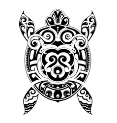 Turtle tattoo shape vector image