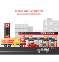 Gas and petrol station vector