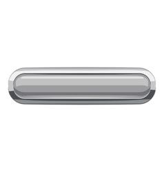 Gray rectangular button icon cartoon style vector