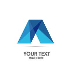 elegant letter a logo concept vector image