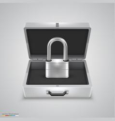 outdoor metal briefcase padlock vector image