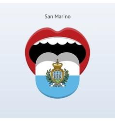 San marino language abstract human tongue vector