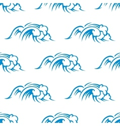 Curling breaking waves seamless pattern vector