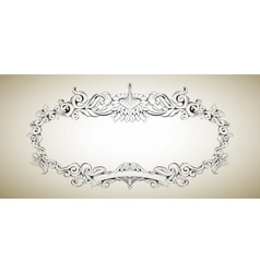 Frame with floral elements for registration 3 vector