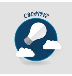 Art launch light bulb creative start conceptflat vector