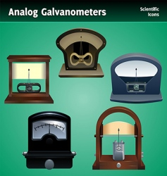 Galvanometer icon set vector