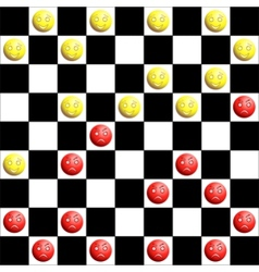 Checkers board vector