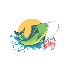 dorado fish vector image