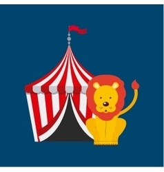 Circus lion show design vector