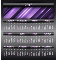 abstract calendar 2013 vector image
