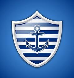 Anchor badge vector image vector image