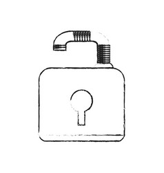 Blurred silhouette image padlock with body and vector
