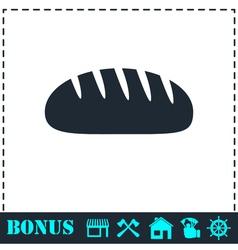 Bread icon flat vector image vector image
