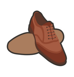 Brown classic shoes vector