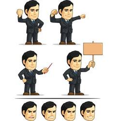 Businessman or Company Executive Customizable 3 vector image vector image