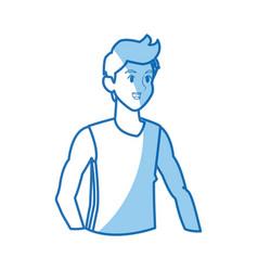 cartoon man fitness sport outwear design graphic vector image