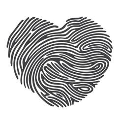 Dashed Line Fingerprint vector image