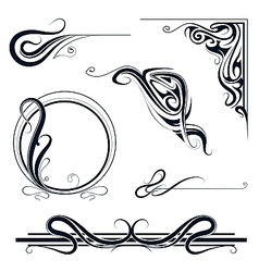 Design elements and borders vector image vector image