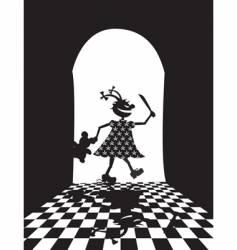 evil girl vector image vector image
