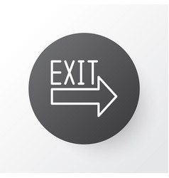 Exit sign icon symbol premium quality isolated vector