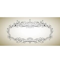 frame with floral elements for registration 3 vector image