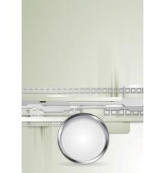 Grey hi-tech background with metallic vector