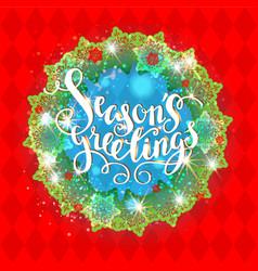 Holiday season wreath vector