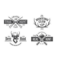 Hunt Emblems 1 vector image vector image