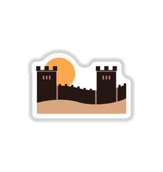 In paper sticker style great vector