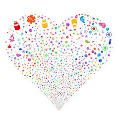 medical symbols fireworks heart vector image