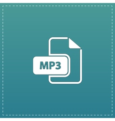 MP3 audio file extension icon vector image vector image