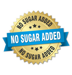 No sugar added round isolated gold badge vector