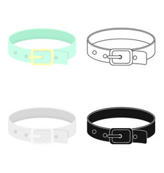 Pet collar icon in cartoon style isolated on white vector