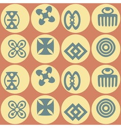 Seamless background with adinkra symbols for your vector