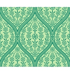 Seamless oriental floral pattern vector