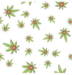 seamless texture medical marijuana one vector image vector image